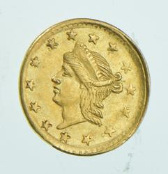 1864 Liberty Head California Gold 1/4 Dollar - BG-866