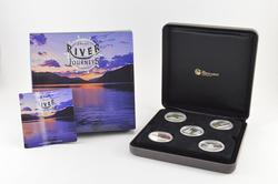 2010 Tuvalu $1 Great River Journeys 1 Oz Silver Proof 5 Coin Set