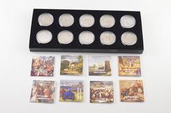 2009-2017 Cook Islands $5 25g .925 Silver 10 Coin Set - Box & COA