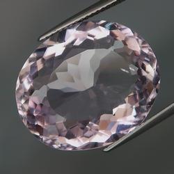 Glittering oval cut 22.14ct pink Amethyst