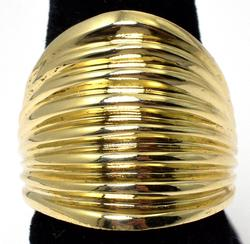 Heavy Segmented 14KT Yellow Gold Band Ring