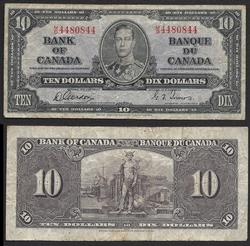$10 1937 Bank of Canada King George VI Radar