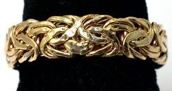 Byzantine Design Yellow Gold Band Ring