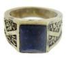 Vintage Sterling Silver Lapis Ring