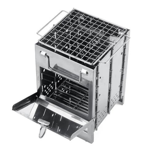 Outdoor BBQ Grill Stove Adjustable Stainless Steel