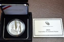 9-11 US Mint Commem Medal, 1oz OGP