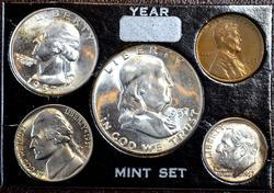 1957 5 COIN YEAR SET MINTED IN PHILADELPHIA B.U.