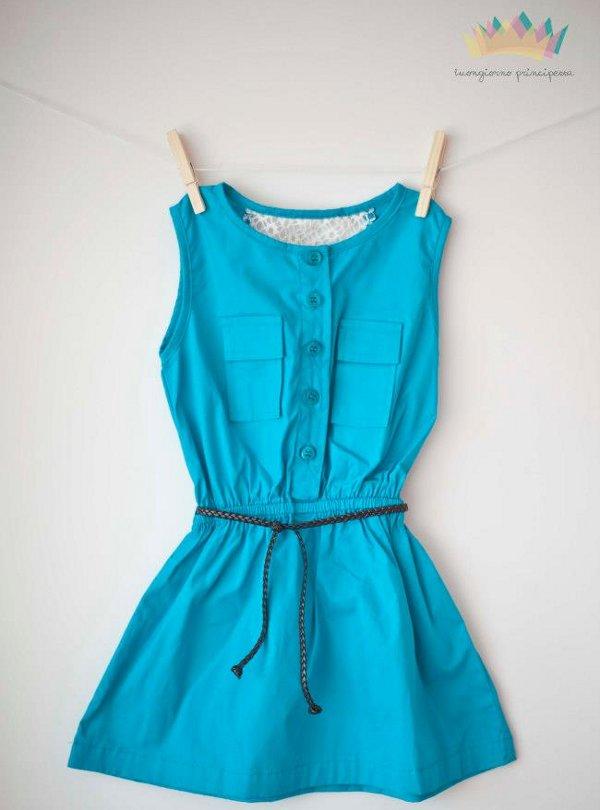 Hermosos vestido color turquesa