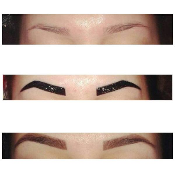 EYEBROW TREADING AND TINT