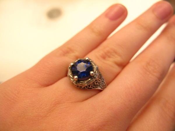 BTD Concave Kashmir Sapphire Antique Ring | Loupe Troop