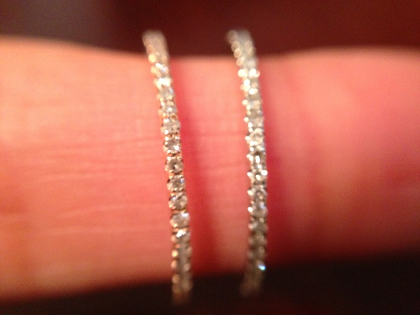 Super Sold*(2) approx 1mm micro diamond pave eternity bands. 14k rose  YE83