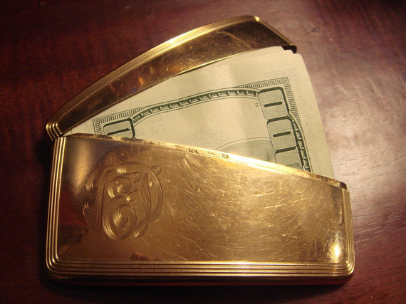 Rich 14k gold calling card case money clip wallet or business rich 14k gold calling card case money clip wallet or business card holder colourmoves