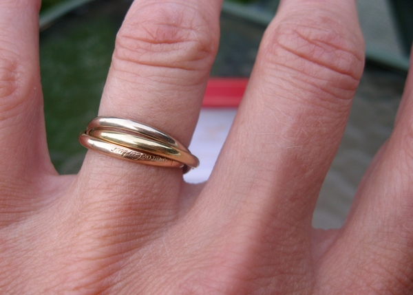 Sold Cartier Trinity 18k 3 Gold Ring Small Model EU51 US 5 75