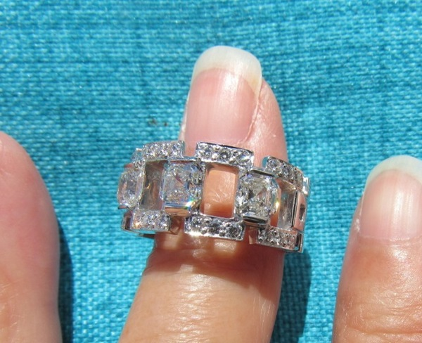 collection diamond royal ring de jewelry asscher engagement rings stone der en cut
