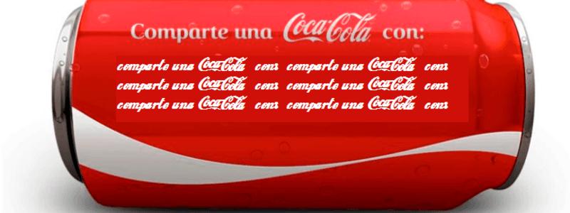 Comparte una Coca-Cola con: