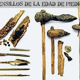 Las armas estaban formadas por... - ¿Cuánto sabes de prehistoria?