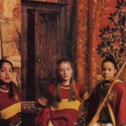 Nombre de las tres cazadoras que forman parte del equipo de Gryffindor. - Harry Potter y la Piedra Filosofal - Test