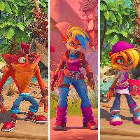 Cuantos personajes jugables hay en Crash Bandicoot 4: It's About time ? (los de la imagen no son todos) - Cuanto Sabes de Crash bandicoot