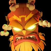 Como se llama la mascara que da ordenes a todos los villanos en Crash Bandicoot ? - Cuanto Sabes de Crash bandicoot