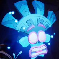 Cual es la mascara cuantica azul ?  - Cuanto Sabes de Crash bandicoot