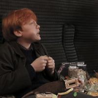 Ron dice que George jura haberse comido una gragea de sabor a:  - ¿Cuanto sabes de Harry Potter y la piedra filosofal?