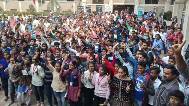 अतुल माहेश्वरी छात्रवृत्ति की परीक्षा के बाद जबरदस्त उत्साह देखने को मिला विद्यार्थियों में