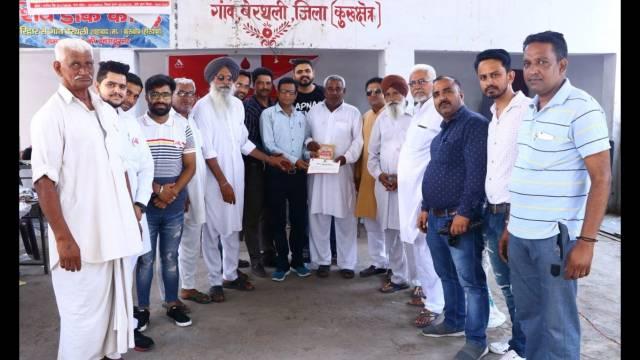 कुरुक्षेत्र के गाँव बेरथली के 102 युवाओं ने किया स्वैच्छिक रक्तदान