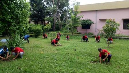 हल्द्वानी में स्वच्छ हल्द्वानी-हरित हल्द्वानी कार्यक्रम के तहत पौधारोपणl