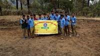 सदाबहानी गगास अभियान के तहत अल्मोड़ा जिले के उदयपुर के जंगल में स्थित सालों पुराने गौमाटी खाव राजकीय इंटर कॉलेज, बिन्ता के एनएसएस और एनसीसी टी टीम