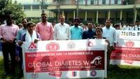 विश्व मधुमेह दिवस पर उत्तर प्रदेश के 75 जिला मुख्यालयों में आयोजित रैलियों में तीन लाख से अधिक लोग शामिल।
