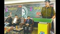 केराकतपुर स्थित वाराणसी पब्लिक स्कूल में आयोजित पुलिस की पाठशाला को संबोधित करते एसपी मार्तंड प्रताप सिंह।