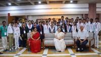 लोकसभा स्पीकर सुमित्रा महाजन ने अतुल माहेश्वरी छात्रवृत्ति परीक्षा- 2016 सम्मान समारोह के तहत लोकसभा परिसर में 38 मेधावी छात्र-छात्राओं को सम्मानित किया