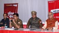 नोएडा केसेक्टर- 37 स्थित अरुण विहार कम्यूनिटी सेंटर में आयोजित 'पुलिस की चौपाल' को संबोधित करते सीओ- I श्वेताभ पाण्डेय