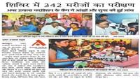 कानपुर के मॉडर्न पब्लिक स्कूल में आयोजित निःशुल्क स्वास्थ्य शिविर की प्रकाशित खबरl