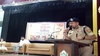 मेरठ के दिल्ली पब्लिक स्कूल में आयोजित पुलिस की पाठशाला को संबोधित करते एसएसपी राजेश कुमार पाण्डेय।