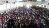 झांसी के शियरवुड कॉलेज में आयोजित पुलिस की पाठशाला में मौजूद विद्यार्थी।