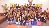 अतुल माहेश्वरी छात्रवृत्ति विजेताओं का अमर उजाला कार्यालय में भव्य स्वागत