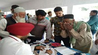 पीलीभीत के दलेलगंज गांव में 873 लोगों का निःशुल्क स्वास्थ्य परीक्षण