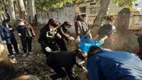 नैनीताल रोड पर सफाई अभियान