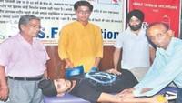 कानपुर शहर के दो स्थानों पर रक्तदान एवं निःशुल्क स्वास्थ्य परीक्षण शिविर का आयोजन