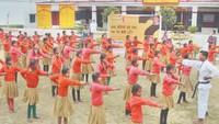 कानपुर में बच्चों को सिखाए गए कराटे एवं आत्मरक्षा के गुर।