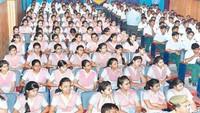 अलीगढ़के कृष्णा इंटरनेशनल स्कूल में हुई पुलिस की पाठशाला