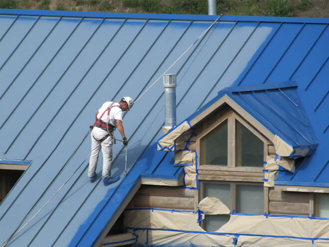 Cost To Paint a Metal Roof Estimates Prices Contractors