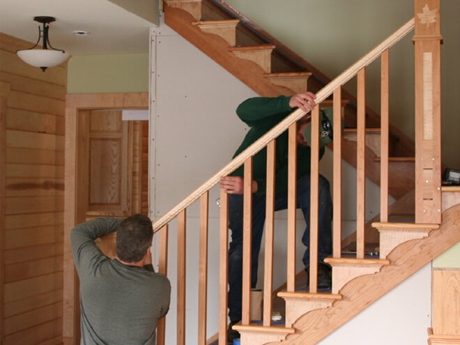 Wood Stair Railing Repair Cost