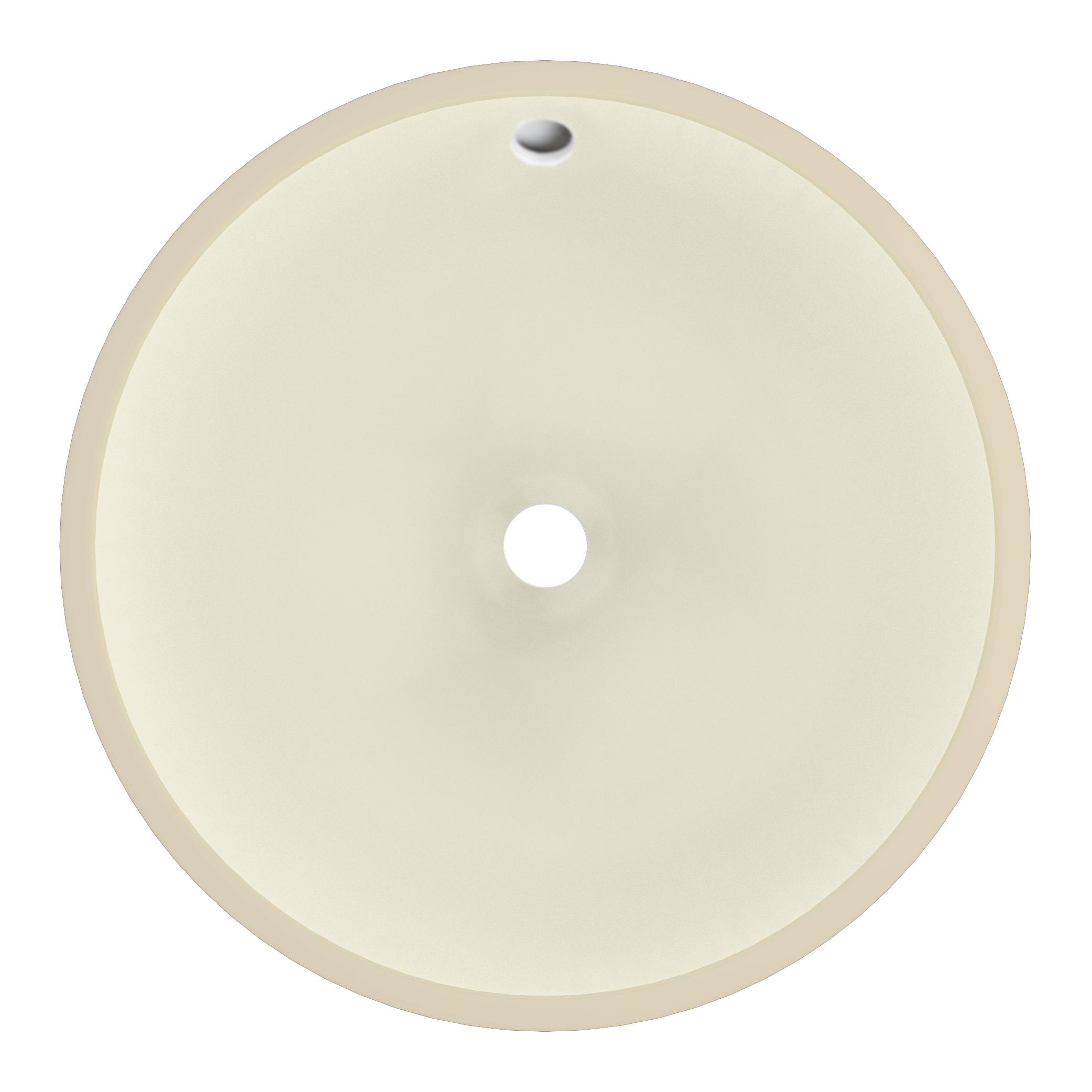 D Round Undermount Sink In Biscuit Color #PP 403