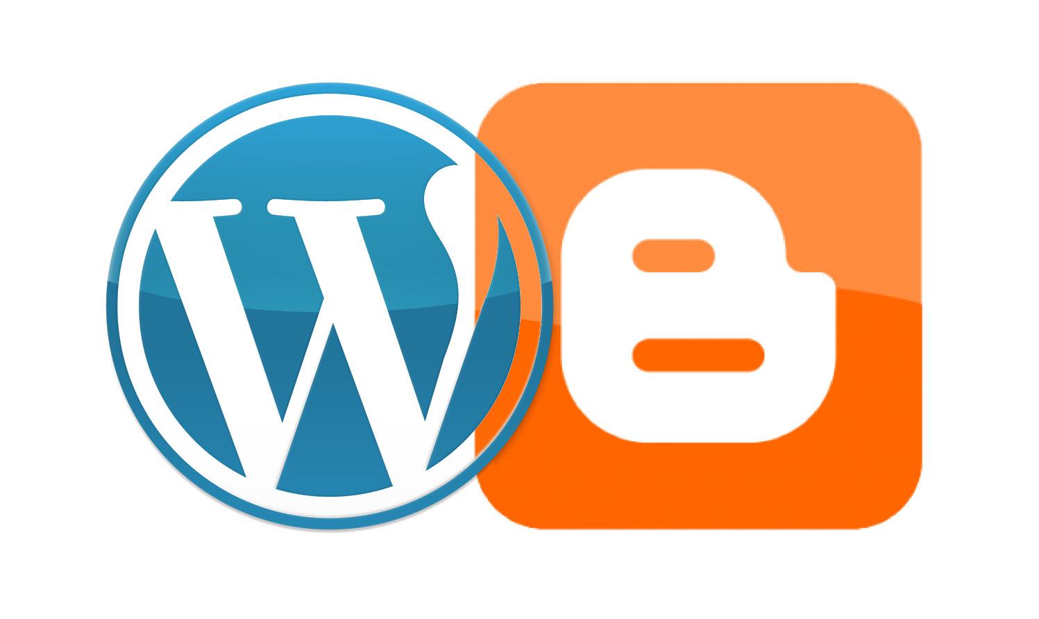 wordpress atau blogger