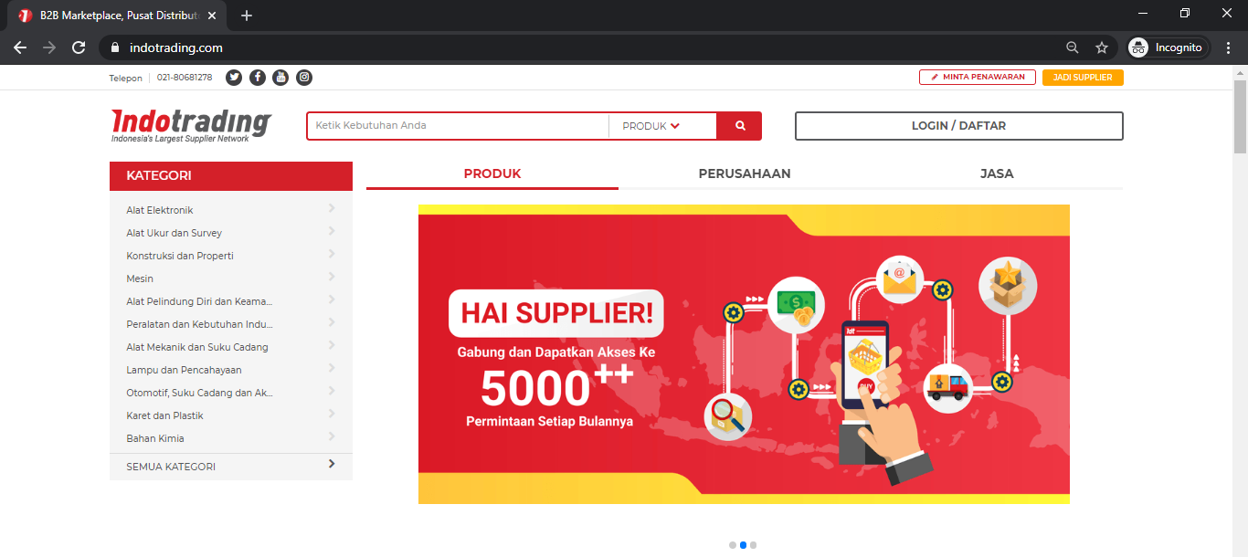 website perusahaan