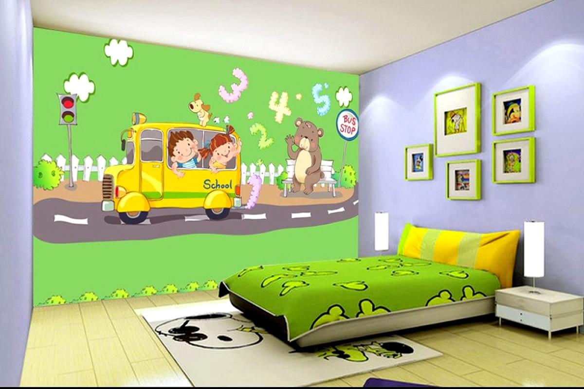 cara memilih wallpaper dinding untuk kamar tidur anak
