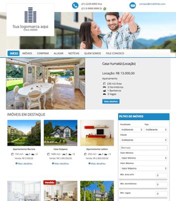 Site para imobiliárias Modelo 1