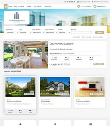 Site para imobiliárias Modelo 10
